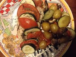 Kip-met-courgette-tomaat-champignons-en-krieltjes-uit-de-oven