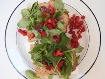 Lunch chorizo, veldsla en paprika van Mylene Ruyters