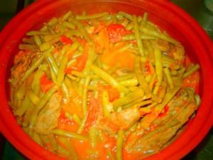 tajine met boontjes, lamsvlees en tomaten
