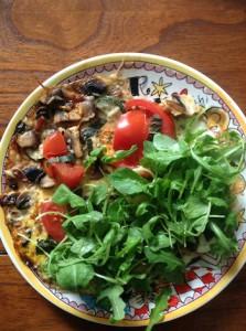Gezonde omelet ontbijt of lunch van GCN