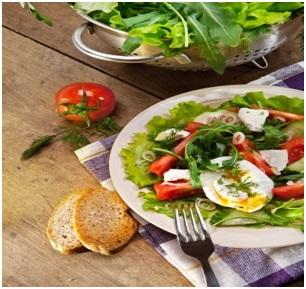 omelet salade